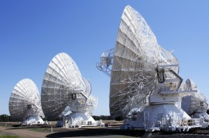 array of deep space telescopes